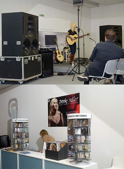 Brook Miller auf der High End 2012- Genelec-Stand