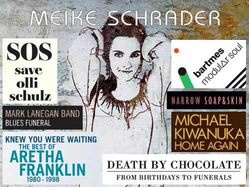 olli schulz, meike schrader, aretha franklin, michael kiwanuka, bartmes, soap & skin, death by chocolate, mark lanegan band
