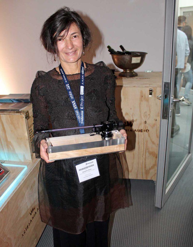 Annette Heiss von Einstein Audio präsentierte den neune Zwölfzöller der Firma