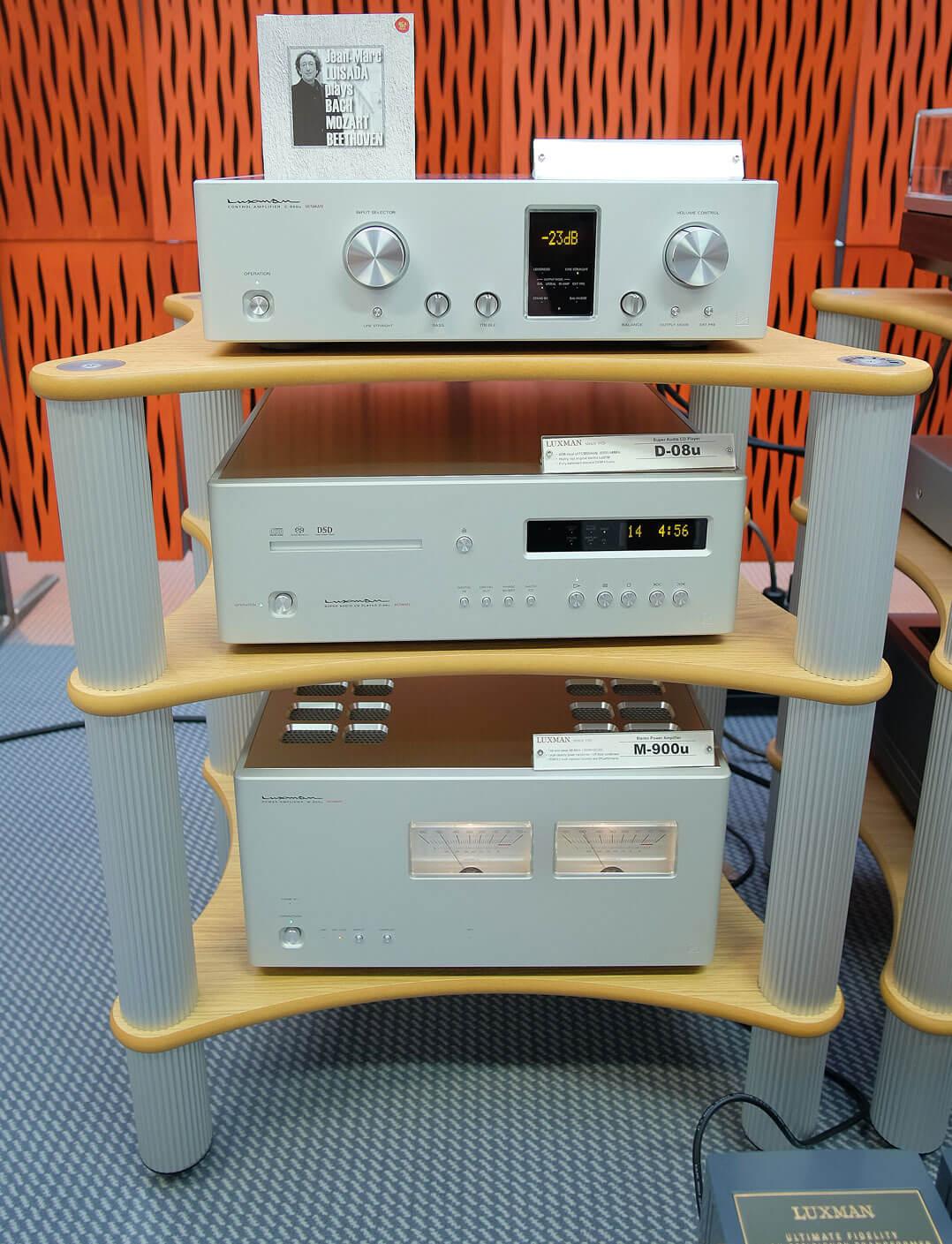 Luxman Vorverstärker C-900, Endstufe M-900, SACD-Player D-08u