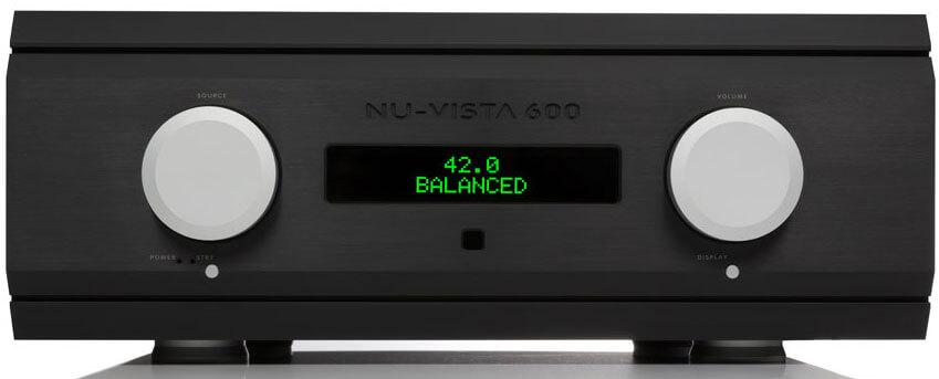 Der Musical Fidelity Nu-Vista 600 ist auch mit schwarzer Front zu haben