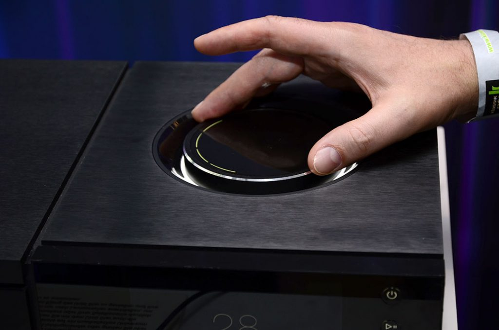 Pegelsteller auf dem Naim Uniti All-in-one-Player