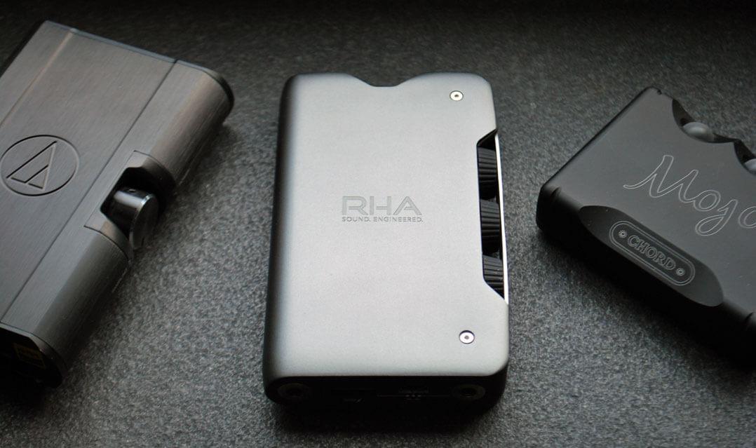 """RHA Dacamp L1 mit""""Gegenspielern"""" Chord Mojo und Audio-Technica AT-PHA 100"""