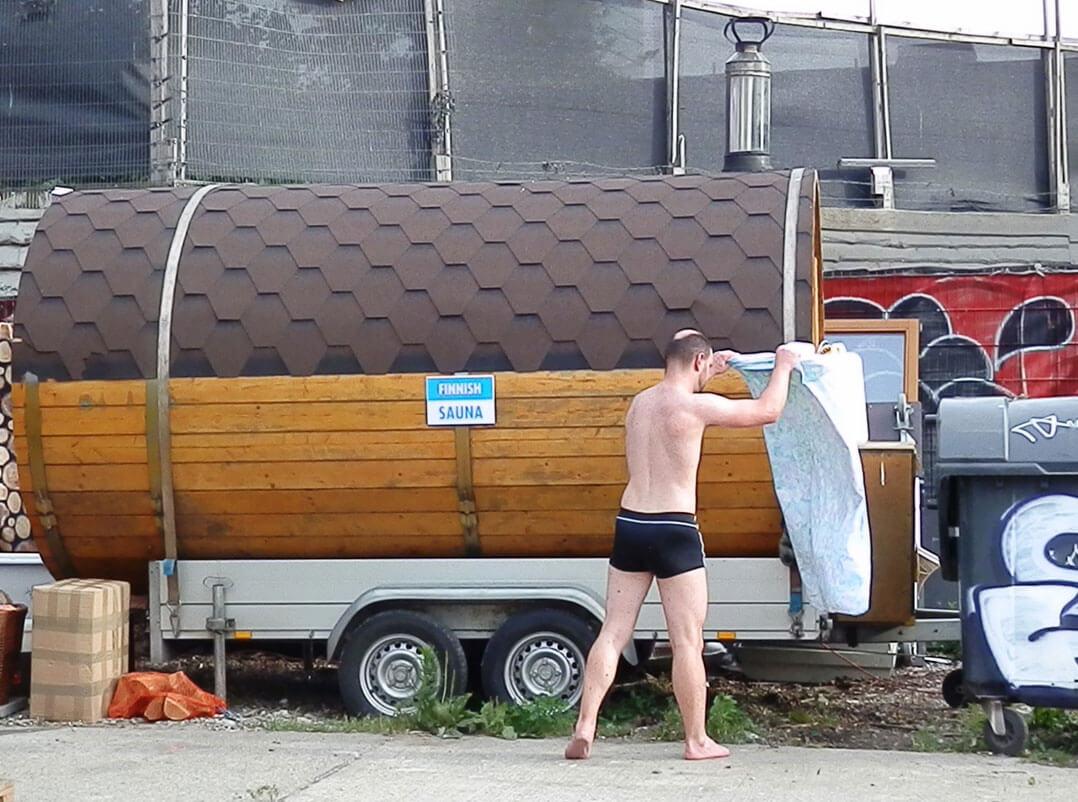 Finnische Fass-Sauna