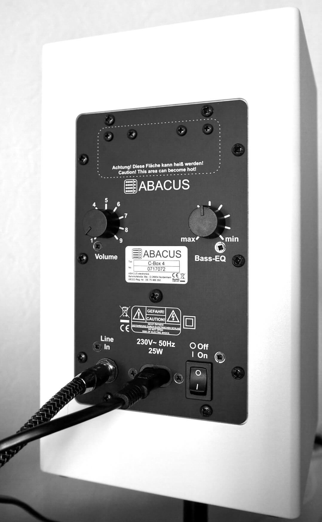 Abacus C-Box 4 Rückseite/Anschlüsse