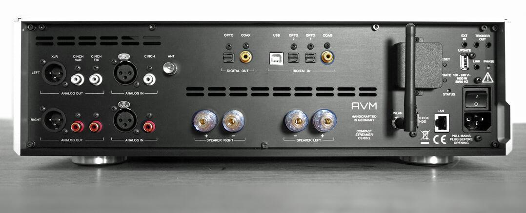 AVM Ovation CS 8.2 Anschlüsse Rückseite