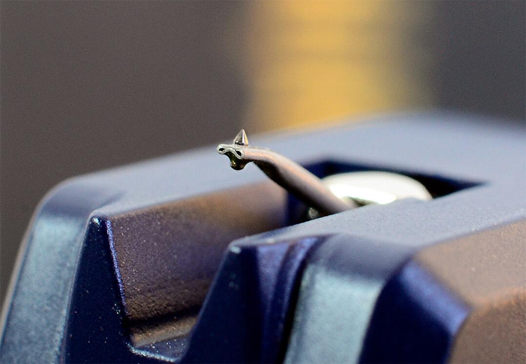 Das Excalibur Blue besitzt eine elliptische Nadel