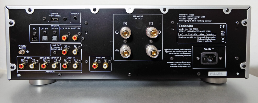 Technics SU-G700 Rückseite