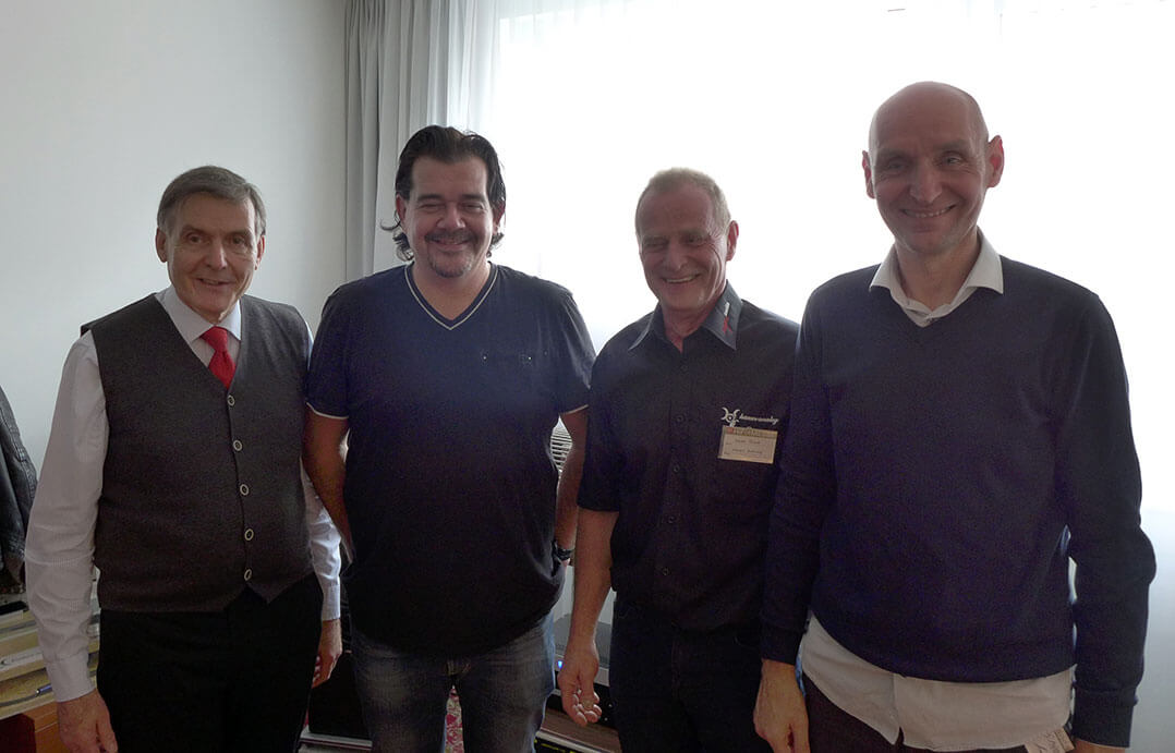 Dr. Ludwig Flich, Günter Loibl, Franz Hauer und Horst Pfaffelmayer (v.l.n.r.)