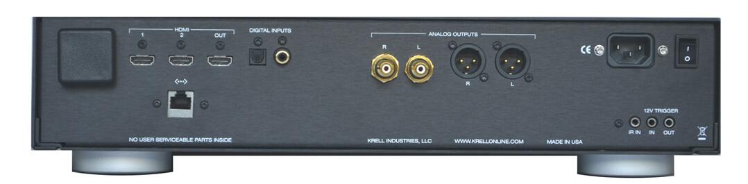 Krell Vanguard Universal DAC - Anschlüsse