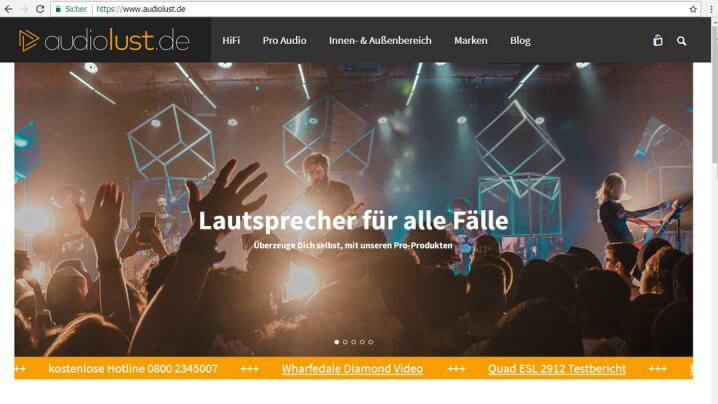 IAD Audiolust Website