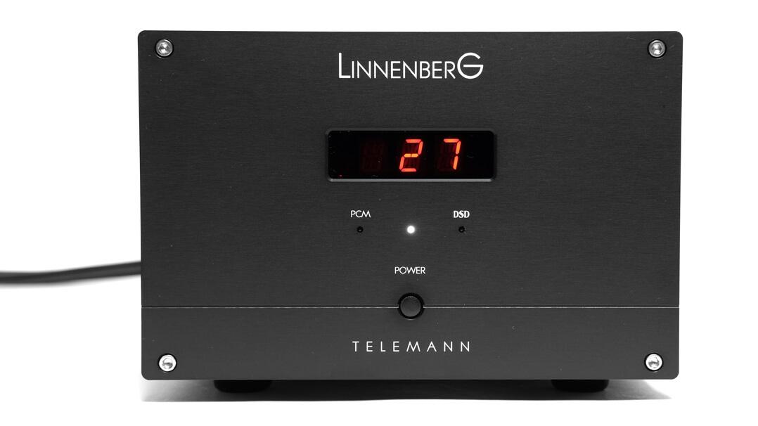 Linnenberg Telemann DAC/Vorstufe Bedienfeld und Display