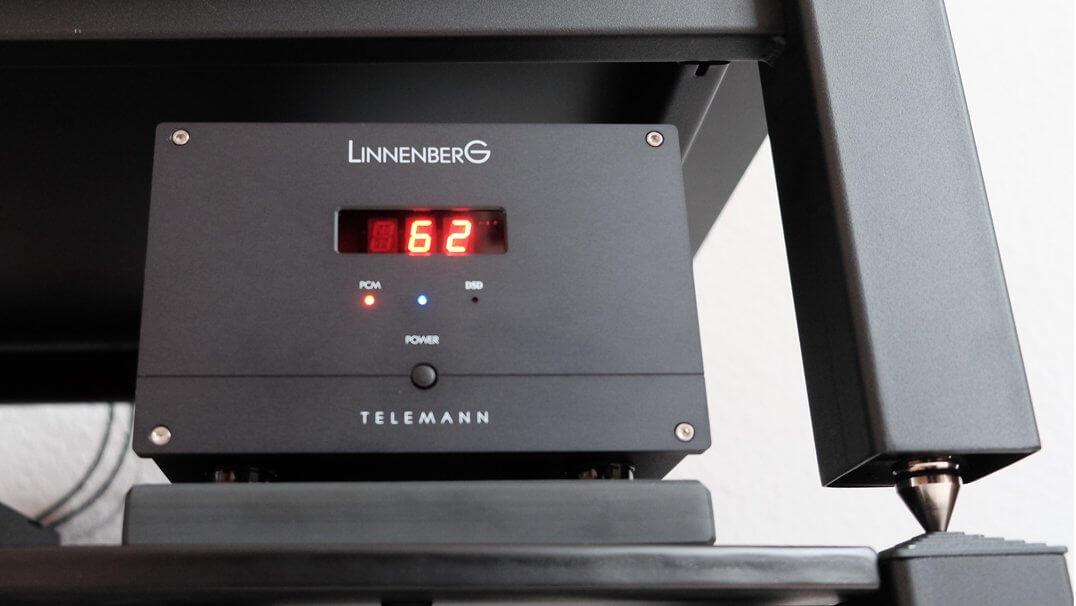 Linnenberg Telemann DAC/Vorstufe eingeschaltet