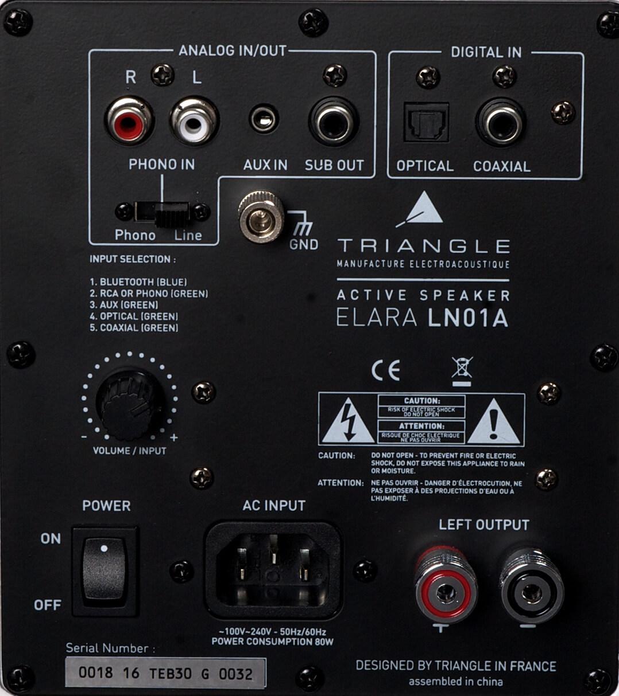 Das Anschlussfeld der Triangle Elara LN01A