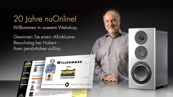 Nubert Website/Onlineshop - 20-Jahre-Gewinnspiel