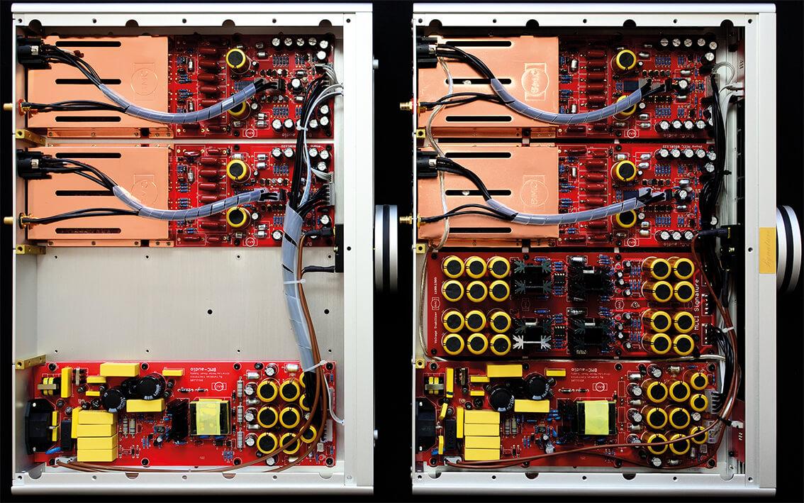 Rechts die alte B.M.C.Audio MCCI, links die MCCI Signature ULN
