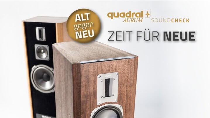 """Quadral Aurum: Soundcheck-Aktion """"Alt gegen Neu"""""""
