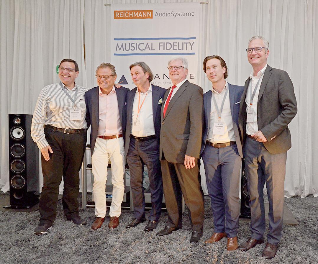 V. l. n. r.: Antony Michaelson, Heinz Lichtenegger, Jürgen Reichmann, Heinz Rohrer, Hugo Decelle, Gunter Kürten