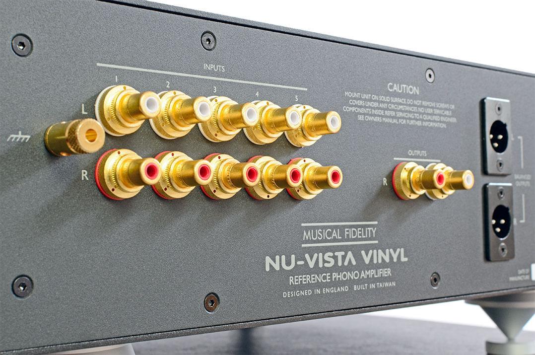 Anschlussfeld der Musical Fidelity Nu-Vista Vinyl