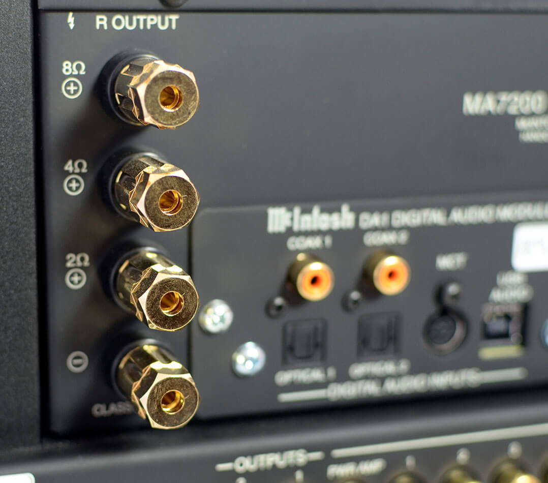 Der MA7200 AC besitzt Abgriffe für 8-, 4- und 2-Ohm-Lautsprecher