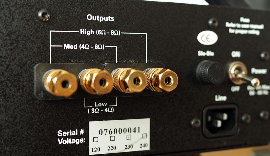 Die BAT VK-76SE bietet unterschiedliche Abgriffe je nach Nominalimpedanz des zu betreibenden Lautsprechers
