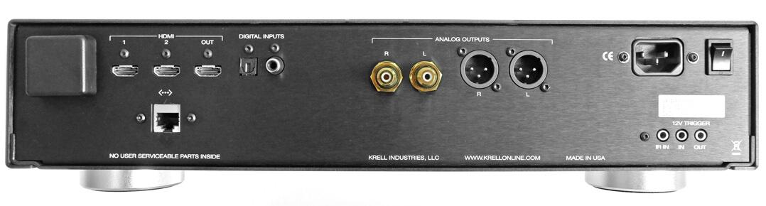 Krell Vanguard Universal DAC Rückseite Anschlüsse