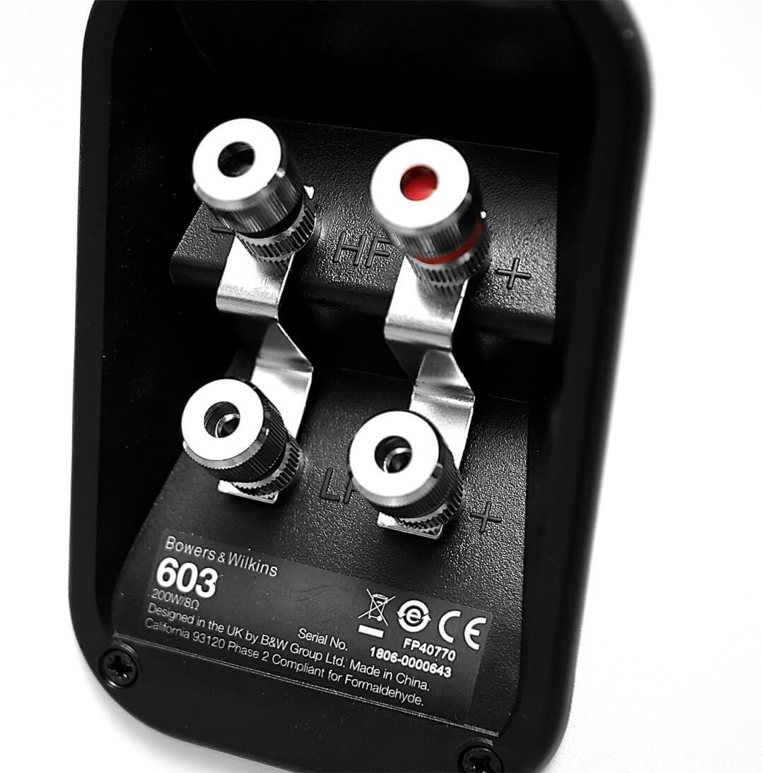 B&W 603 Lautsprecher Bi-Wiring-Terminal