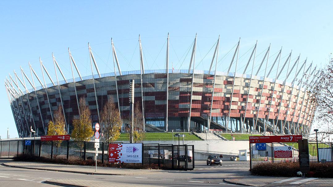Ungewöhnlich: Ein Stadion als HiFi-Messe-Location