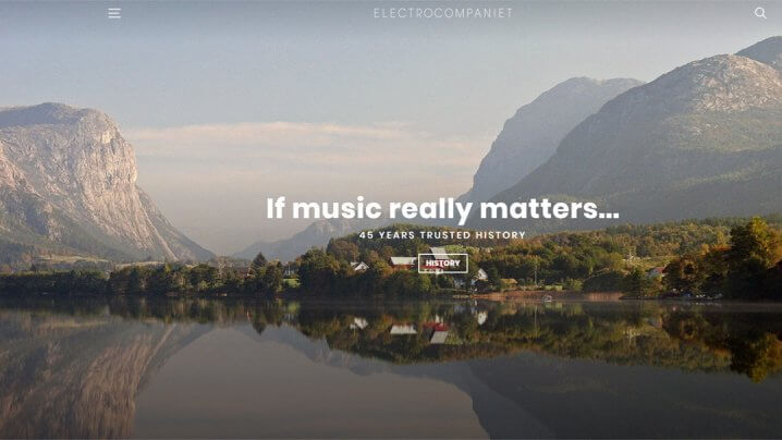 Electrocompaniet Website Relaunch