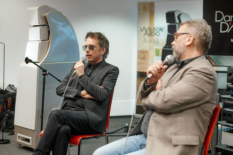 Jean Michel Jarre (links) im Gespräch mit Pjotr Metz