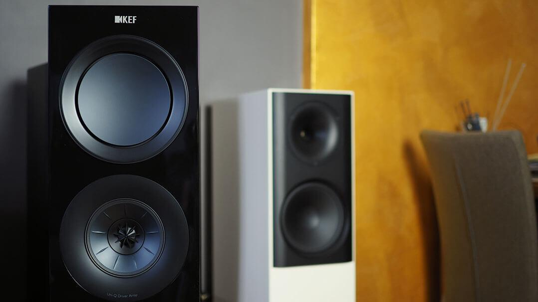 KEF R7 und Lansche-Lautsprecher