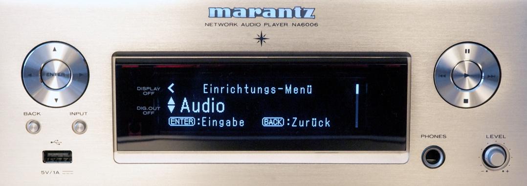 Marantz NA6006 Netzwerkplayer / Streamer Display Einrichtungsassistent