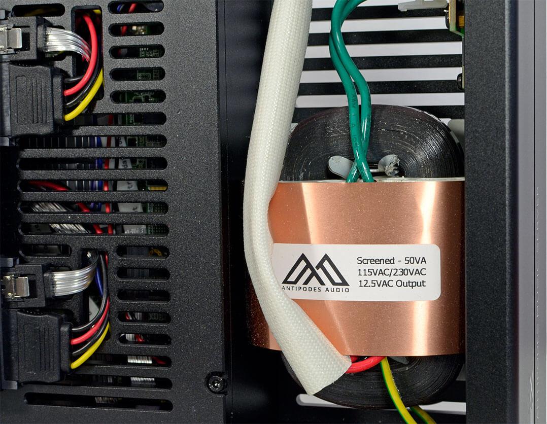 Der Transformator des Antipodes EX soll besonders störarm sein