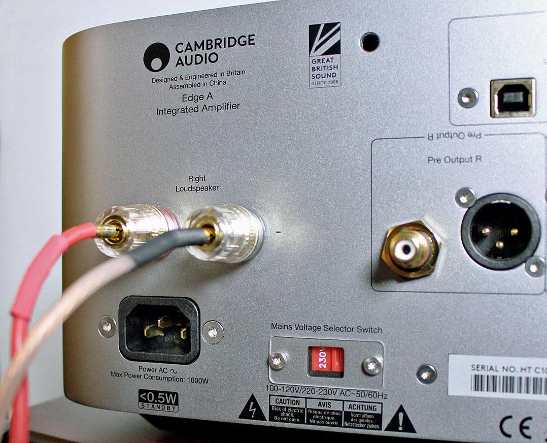 Cambridge Edge A Vollverstärker mit DAC Lautsprecheranschluss