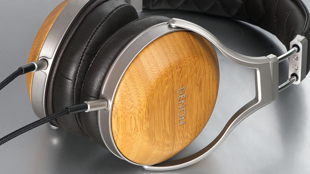 Denon AH-D9200 Kopfhörer seitlich makro