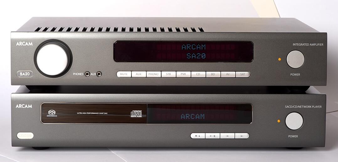 Arcam CDS50 und SA20 von vorne