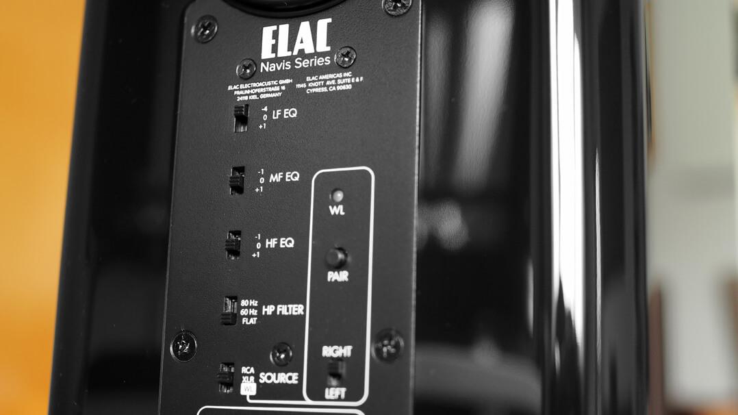 Elac Navis ARB-51 Rückseite: Klangregelung