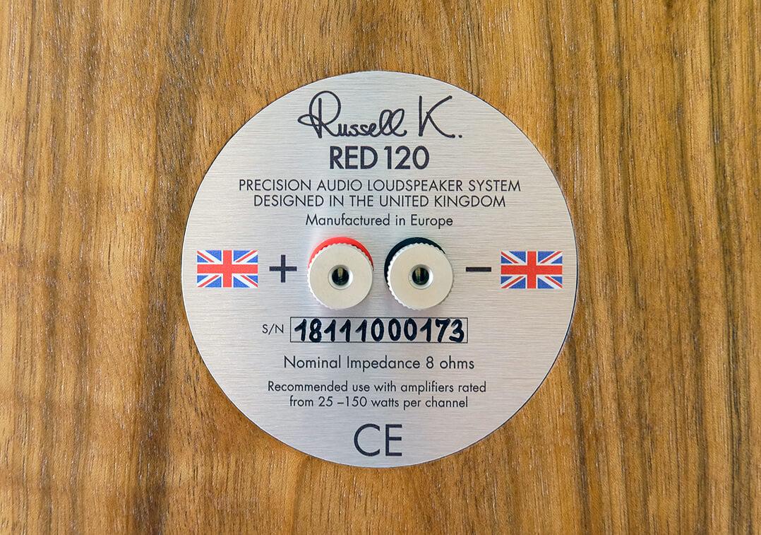 Russell K. Red 120 Standlautsprecher Anschlussterminal