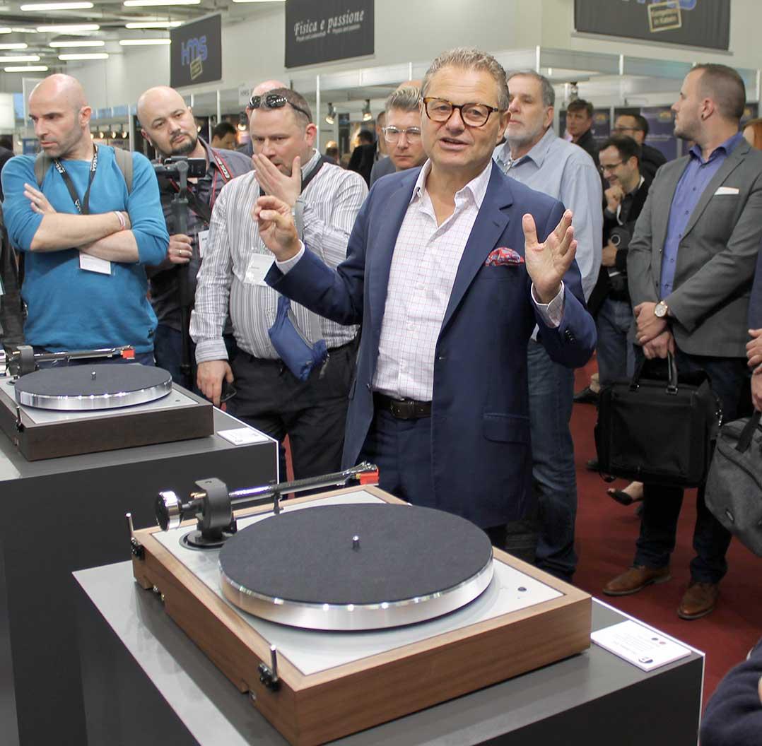 Heinz Lichtenegger von Pro-Ject stellte den The Classic Evo vor