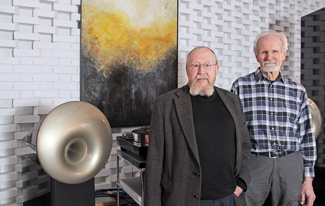 Acapella-Gründer und Erfinder des sphärischen Horns: Links Herman Winters, rechts Alfred Rudolph