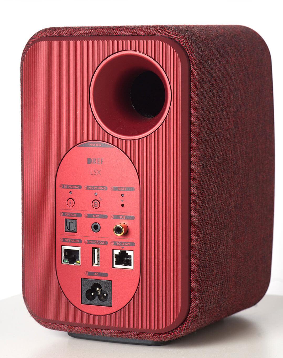 Rückseite des KEF-LSX-Master-Lautsprechers