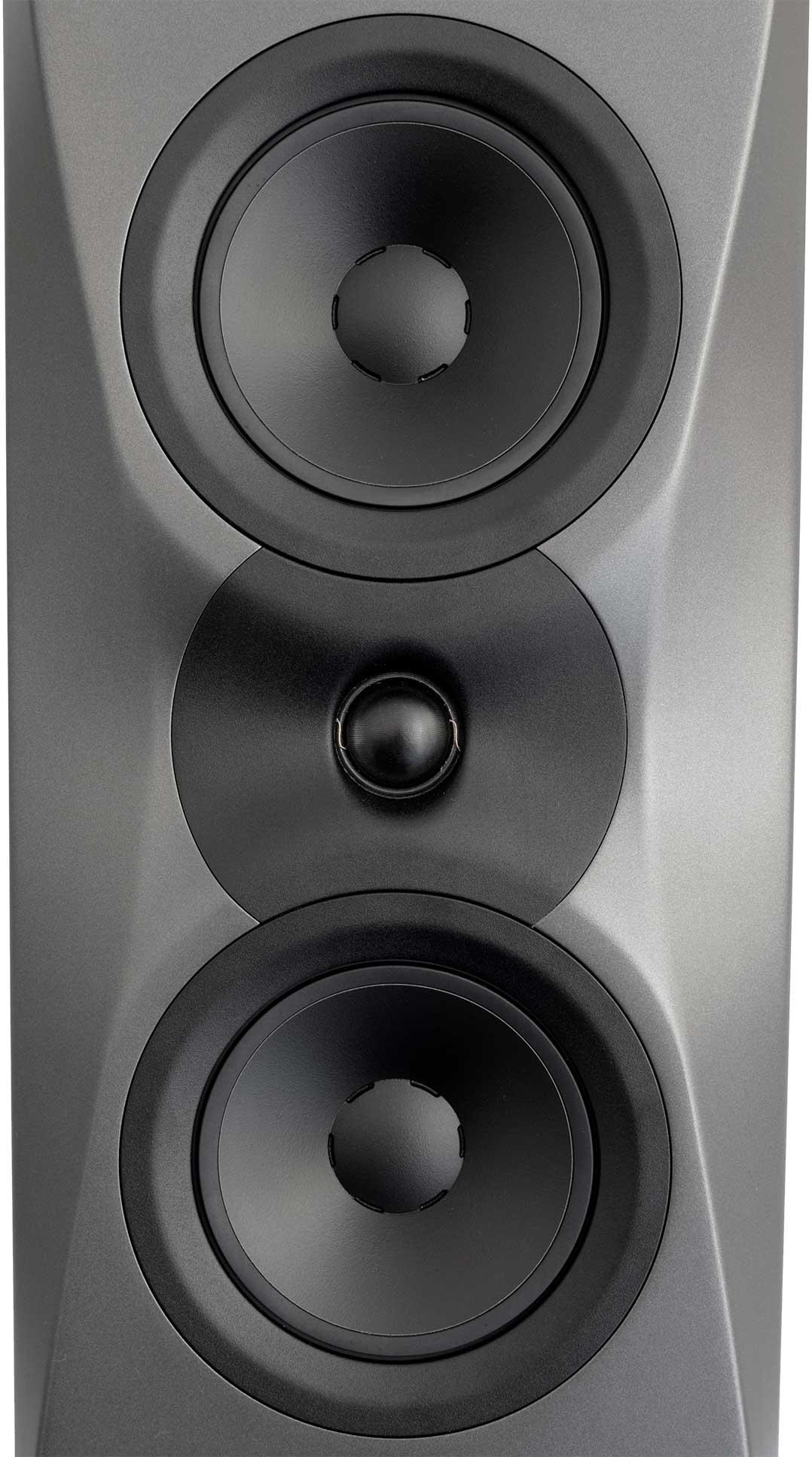 Die besondere Form der Schallwand dient der Steuerung des Abstrahlverhaltens