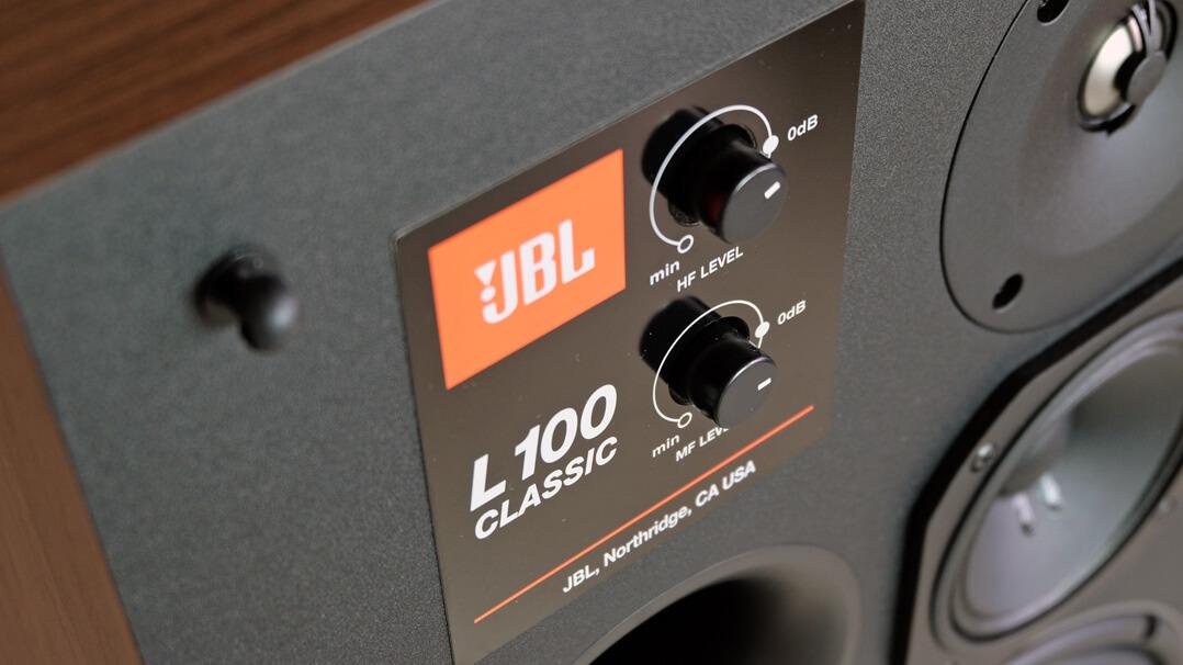 JBL L100 Classic Lautsprecher Drehregler