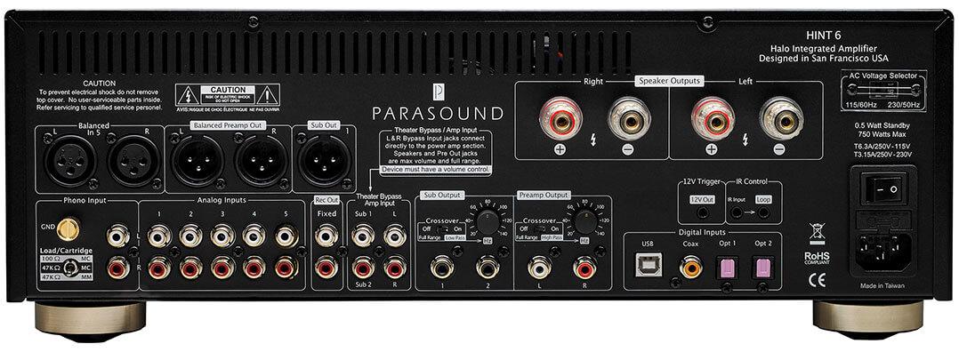 Parasound Hint 6, Rückseite