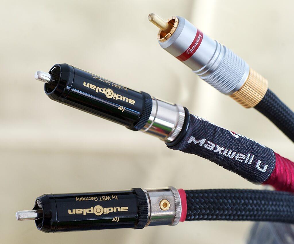 Audioplan Maxwell A, S und U mit WBT-Cinchsteckern