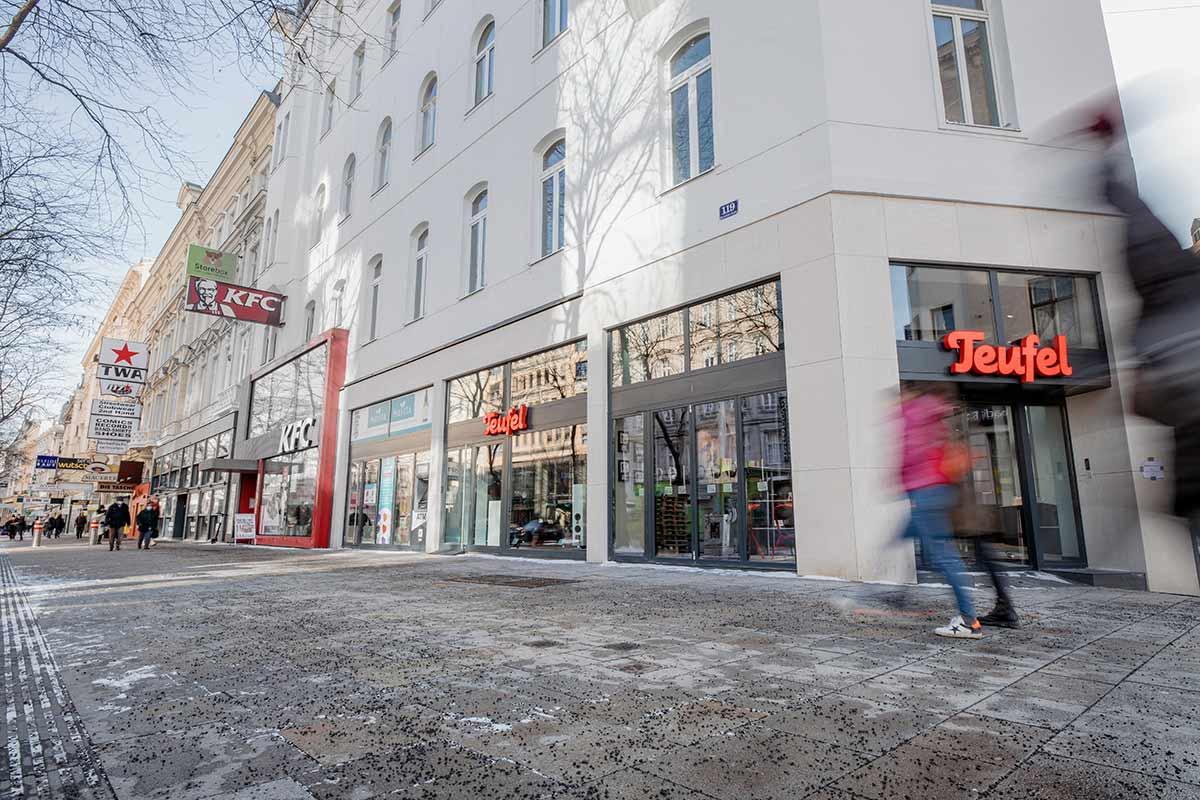 Der Teufel Store Wien befindet sich in der Mariahilferstraße 119