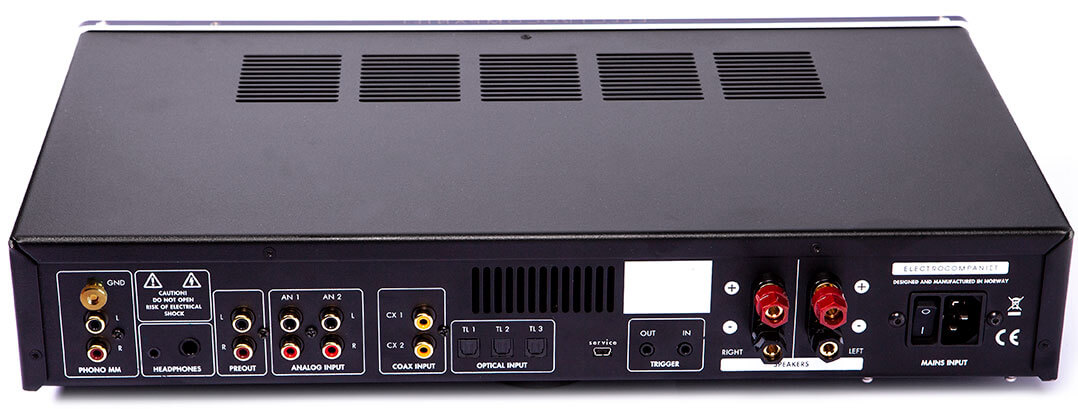 Rückseite des Electrocompaniet ECI 80D
