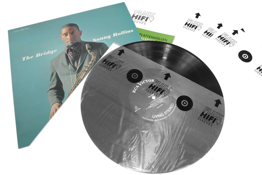 Flux Hifi Sleeves Plattenhüllen mit Schallplatte