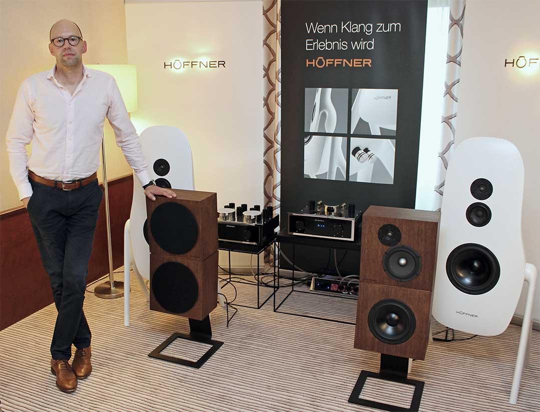 Markus Höffner präsentierte seine Lautsprecher