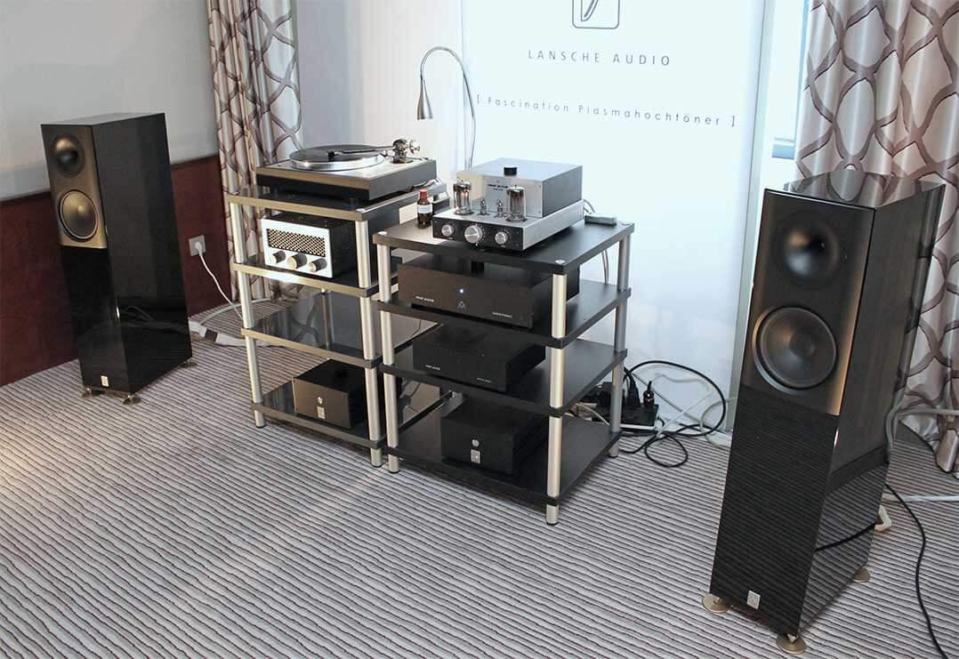 Lansche-Lautsprecher an Rike Audio Elektronik